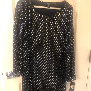 Brand new with tags blue polka dot dress Macy's
